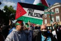 People rally in of Palestinians in Brooklyn, New York, on May 15, 2021. Photo: AFP