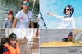 Yani Lam Yan-yan and her daughter See-sun, Mirna Zordan, Angel Leung On-ki and Syliva Leung Chuk-yun will be part of the Women's Sailing Festival in Hong Kong. Photos: Handout