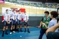 The German men's team in an interview at the UCI Track Cycling Nations Cup at the Hong Kong Velodrome in Tseung Kwan O. Photo: Cycling Association of Hong Kong