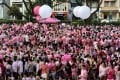 Participants at the Pink Dot Sg rally in Singapore in 2017. Photo: AFP