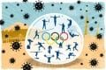 Athletes will be inside a bubble during the Tokyo Olympics even as the Covid-19 pandemic rages on in Japan. Illustration: Joe Lo