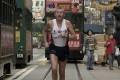 Ron Hill runs through Wan Chai streets in 2003 – he died aged 82. Photo: SCMP