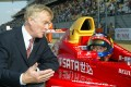 Max Mosley chats to Hong Kong racer Marchy Lee before the Formula BMW Asia race during the inaugural Chinese Grand Prix weekend at Shanghai International Circuit in 2004. Photo: K.Y. Cheng