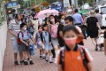 Hong Kong pupils are back in school en masse following an easing of Covid-19 rules. Photo: K. Y. Cheng