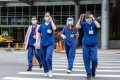 Hospital staff in the Taiwanese cities of Taipei and New Taipei are having difficulty tracing patients who have been tested and told to go home and wait for results, which turned out to be positive. Photo: Bloomberg