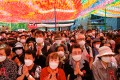 Buddhist believers attend a ceremony celebrating the anniversary of the birth of Buddha in Seoul. Photo: Reuters