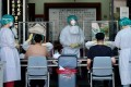 Taiwan is struggling to source vaccines as it battles a spike in coronavirus infections as it. Photo: AFP