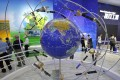 A model of Chinese BeiDou Navigation Satellite System is displayed during the 12th China International Aviation and Aerospace Exhibition in Zhuhai city, Guangdong province, on November 7, 2018. Photo: AP Photo