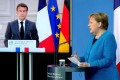 French President Emmanuel Macron and German Chancellor Angela Merkel, who held a video conference on Monday, called for an explanation for the alleged spying. Photo: AFP