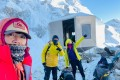 Hong Kong mountaineer Ada Tsang (foreground) reached the summit of Mount Everest in a record time of 25 hours and 50 minutes on Sunday. Photo: Handout
