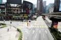 A deserted street during a coronavirus lockdown in Kuala Lumpur. Photo: Reuters