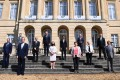 Finance ministers pose for a family photo at Lancaster House during the G7 meeting in London on Saturday. Photo: EPA-EFE