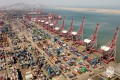 China's exports grew by 27.9 per cent in May compared with a year earlier, while imports grew by 51.1 per cent last month. Photo: AFP