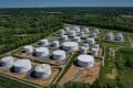 Fuel holding tanks are seen at Colonial Pipeline's Dorsey Junction Station in Woodbine, Maryland, in May. Photo: AFP