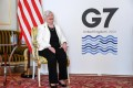 US Treasury Secretary Janet Yellen at the G7 Finance Ministers' Meeting in London on June 5. While the US has, in the past, been opposed to global tax harmonisation, the Biden administration has been pushing for it. Photo: AFP