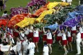 Participants from the UK team at the opening ceremony of the Gay Games in Sydney in 2002. Photo: AFP
