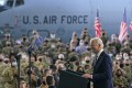 US President Joe Biden addressing American service members at RAF Mildenhall in Britain on Wednesday. A Pentagon advisory panel Biden set up has finished its review of US military strategy toward China and made its recommendations. Photo: AP