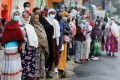 People queue at a polling station to vote during the Ethiopian parliamentary and regional elections, in Addis Ababa, Ethiopia, on Monday. Photo: Reuters