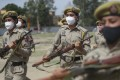 Special police officer recruits who completed nearly three months of physical training demonstrate their skills at Kathua in Indian-controlled Kashmir earlier this month. Photo: AP