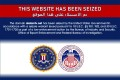 The website of Iran's Arabic language Al Kawtathar television with a notice it had been seized by the United States government. Photo: Reuters