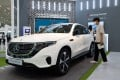 A Mercedes-Benz AG EQC luxury electric car pictured in Seoul, South Korea, on June 9. In Beijing, a showroom once full of the new electric SUVs had just a single model left as a persistent chip shortage continues to hit carmakers. Photo: Bloomberg