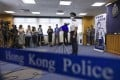 New Commissioner of Police Raymond Siu Chak-yee speaks to the press at Hong Kong Police College on Saturday. Photo: Nora Tam