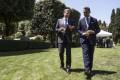 Italian Foreign Minister Luigi Di Maio (right) with US Secretary of State Antony Blinken in Rome. Photo: EPA-EFE