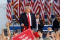 Former US President Donald Trump in Wellington, Ohio, on Saturday. Photo: AFP