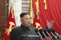 North Korean leader Kim Jong-un speaks during a Politburo meeting of the ruling Workers' Party in Pyongyang. Photo: AP