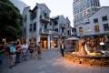 Visitors walk at Xintiandi in Shanghai, China. Photo: Bloomberg