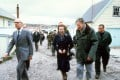 Margaret Thatcher pictured on a tour of the Falkland Islands in 1983 following the British victory the previous year. Photo: AFP