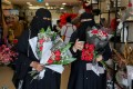 Women shop at a florist on Valentine's Day in Riyadh, Saudi Arabia. File photo: Reuters