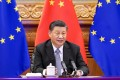 The call between China's Xi Jinping and counterparts Angela Merkel of Germany and France's Emmanuel Macron came as concern about China's human rights record and coercive economic practices pervades both Brussels' institutions and member states. Photo: Xinhua