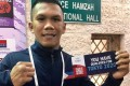 Eumir Marcial with his ticket to the Tokyo Olympics. Photo: Philippine Athletes at Multi Sport Event