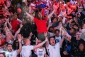 England and their legion of fans are now one win away from a monumental Euro 2020 win for the ages. Photo: EPA