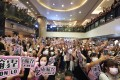 Fans of Hong Kong boy band Mirror crammed into Harbour City on Saturday. Photo: Felix Wong