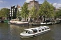A tourist boat in Amsterdam. Photo: Reuters