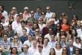 Spectators watch the tennis at Wimbledon. Photo: Reuters
