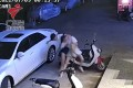CCTV captured the moment a man tried to violently abduct his ex-girlfriend in China. Photo: Weibo