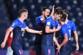 Kitchee players celebrate a goal in the 2021 AFC Champions League bubble in Thailand. The Hong Kong side missed out on the knockouts despite finishing second in group J. Photo: AFC