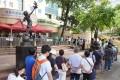 Hongkongers queue up for Sinovac jabs in Causeway Bay. Photo: Winson Wong