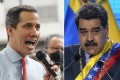 Juan Guaido (left) and Nicolas Maduro. Photo: AP