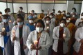 Doctors take part in a candlelight vigil in Chennai as a tribute to frontline workers on India's National Doctors' Day earlier this month. Photo: EPA