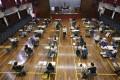Hong Kong students sit for the visual arts portion of the Diploma of Secondary Education exam in April. Photo: May Tse