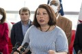Senator Tammy Duckworth, a Democrat from Illinois, and a group of Republicans sponsored the Taiwan Partnership Act. Photo: Bloomberg