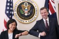 US Trade Representative Katherine Tai met with Australian counterpart Dan Tehan in Washington on Wednesday. Photo: Twitter