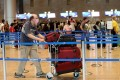 Passengers wearing face masks are seen in the departure hall at Ben Gurion International Airport near Tel Aviv, Israel. Photo: Xinhua