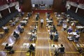 Students sit for their Diploma of Secondary Education exams at a school in Yuen Long earlier this year. Photo: May Tse