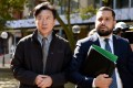 Chan Han Choi leaving the Supreme Courts in Sydney earlier this year. Photo: EPA