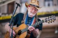 Musician Willie Nelson performs during the Georgetown to Austin March for Democracy rally on Saturday in Austin, Texas. Photo: Getty Images / AFP